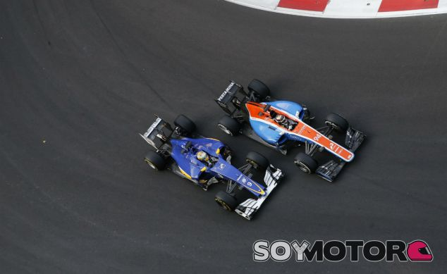 Ericsson y Wehrlein durante el GP de Bakú - SoyMotor