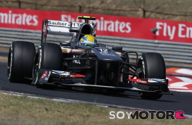 Esteban Gutiérrez en el Hungaroring