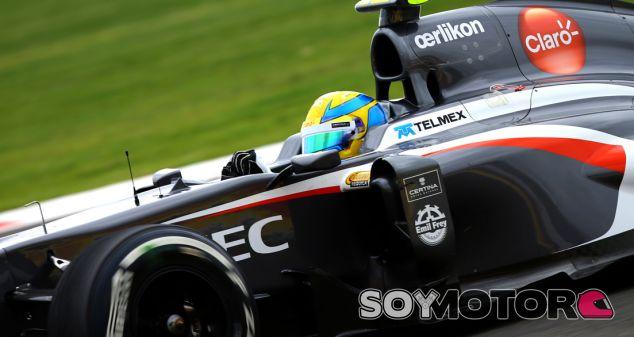 Esteban Gutiérrez con el Sauber C32
