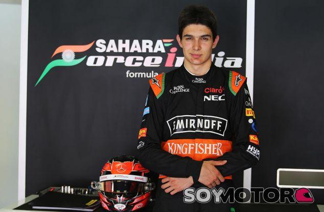 Esteban Ocon en uno de los test que hizo con Force India en el pasado - SoyMotor
