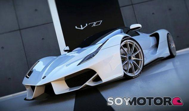 El diseño del Exotic Rides W70 recuerda inevitablemente al Ferrari LaFerrari - SoyMotor