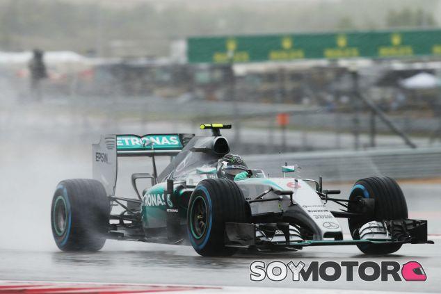Rosberg consigue la 'pole' en Austin sobre mojado - LaF1