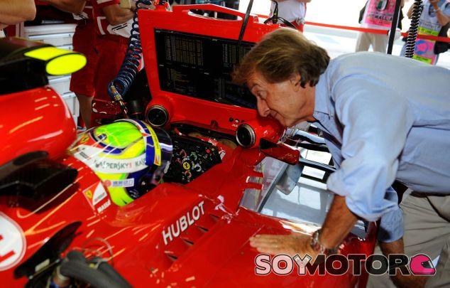 Felipe Massa y Luca di Montezemolo durante el Gran Premio de Italia - LaF1