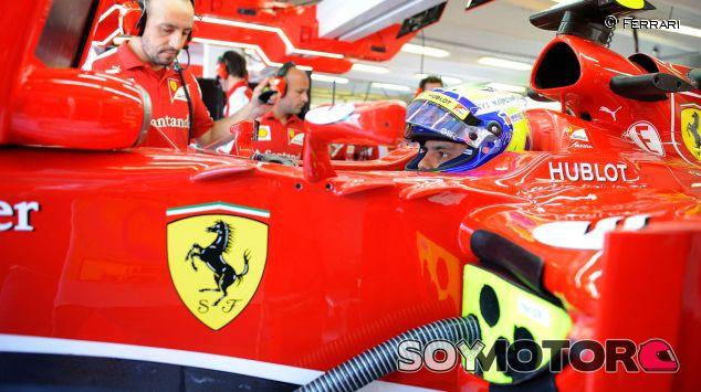 Felipe Massa en el Ferrari F138