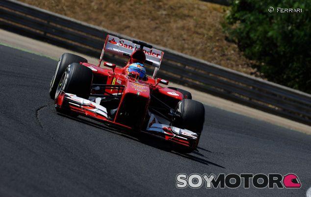 Fernando Alonso en el Hungaroring