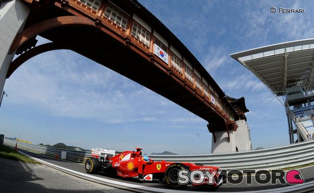 Fernando Alonso durante el GP de Corea de 2012 - LaF1