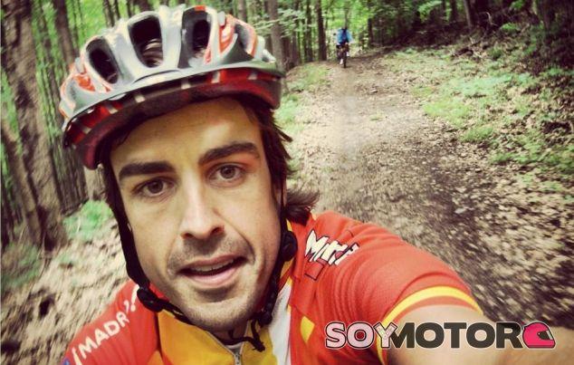 Fernando Alonso, amante del ciclismo