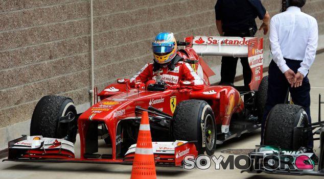 Fernando Alonso a la llegada al parque cerrado de Corea - LaF1