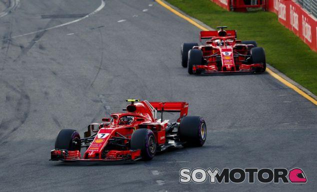 Räikkönen y Vettel en el GP de Australia 2018 - SoyMotor.com