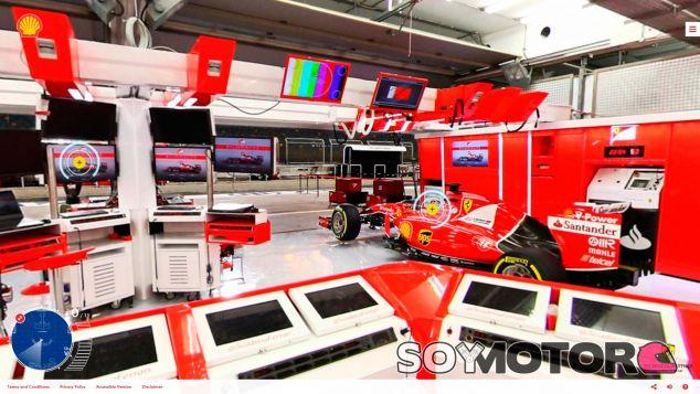 Gracias a este tour virtual puedes visitar cualquier rincón del box de Ferrari - LaF1