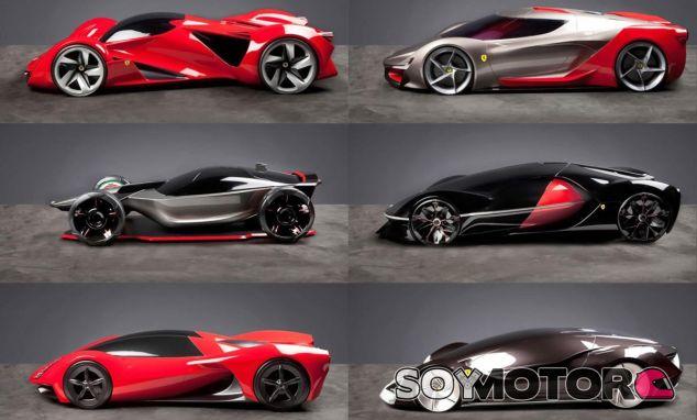 Algunos de los diseños vistos en esta edición del Ferrari Top Design School Challenge - SoyMotor