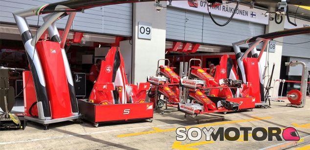 Box de Ferrari en Austria - LaF1