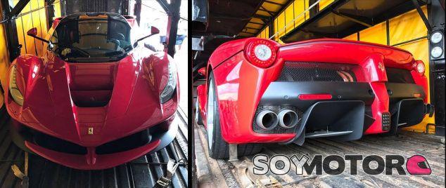 Un Ferrari LaFerrari al borde del desgüace - SoyMotor.com