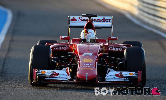 Vettel a bordo del SF15-T en Jerez - LaF1es