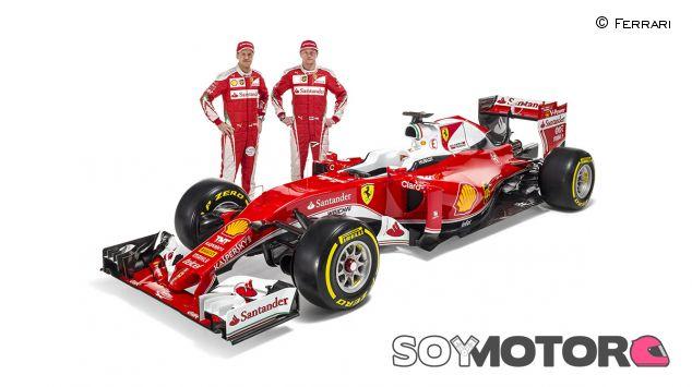Sebastian Vettel y Kimi Räikkönen con el Ferrari SF16-H - LaF1