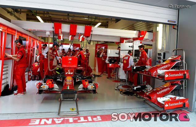 Box de Ferrari en Rusia - LaF1