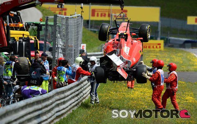 Así ha quedado el coche de Kimi Räikkönen tras el accidente - LaF1