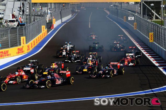 Salida del Gran Premio de Rusia - LaF1