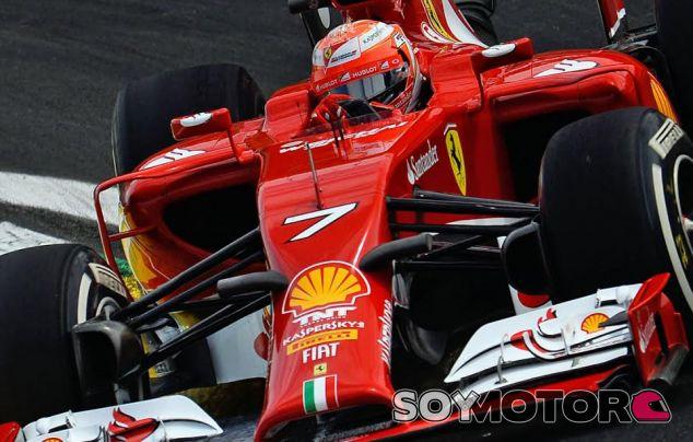 Räikkönen con el F14T - LaF1.es