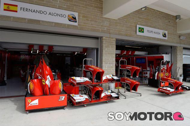 Box de Ferrari en Austin - LaF1