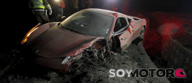 Así quedó el Ferrari del jugador de la Juventus - SoyMotor