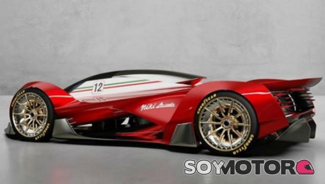 El homenaje más futurista al Ferrari 312T de Niki Lauda - SoyMotor.com