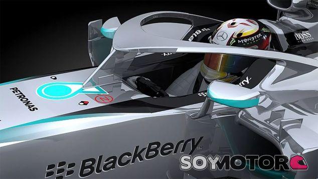 Una de las propuestas evaluadas en los crash-test de septiembre fue el diseño de Mercedes - LaF1