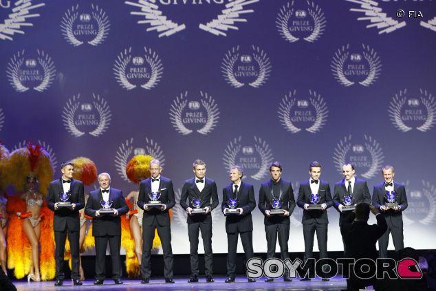 La FIA repartió anoche los trofeos de sus competiciones para poner punto y final al año 2013 - LaF1