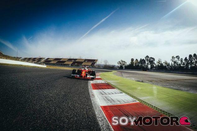 Vettel, durante el 'filming day' - LaF1