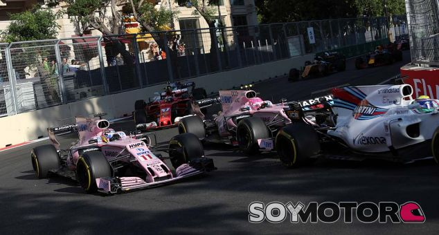 Force India en el GP de Azerbaiyán F1 2017: Domingo - SoyMotor.com