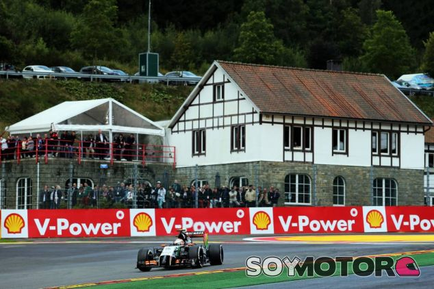 Sergio Pérez en Spa-Francorchamps - LaF1