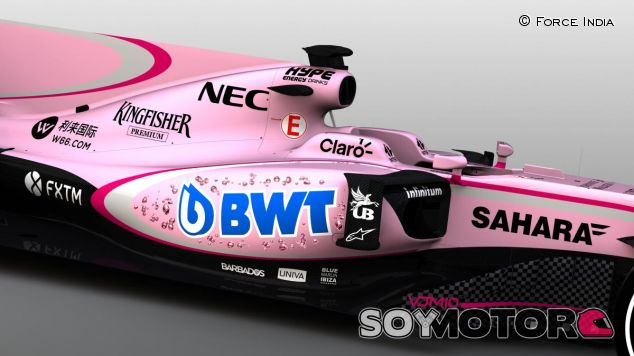 La nueva decoración del Force India VJM10 - SoyMotor