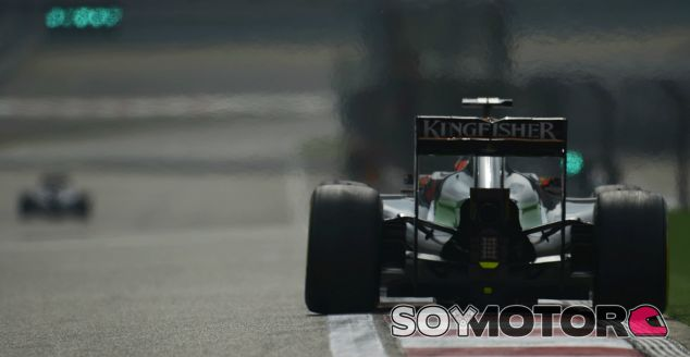 Force India en el GP de China F1 2014: Viernes