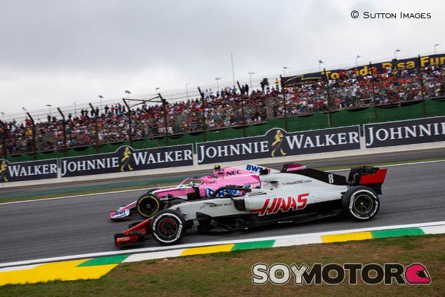 Haas y Force India en Interlagos - SoyMotor.com