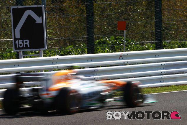 Force India en el GP de Japón F1 2013: Viernes
