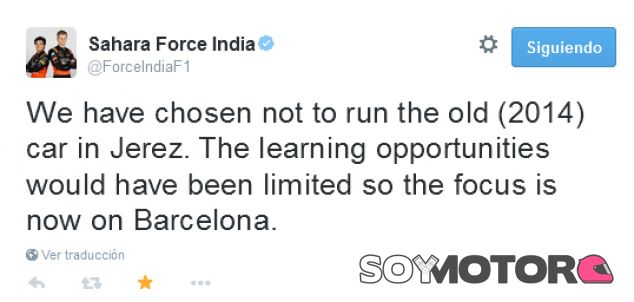 Force India no estará en los test de Jerez - LaF1.es