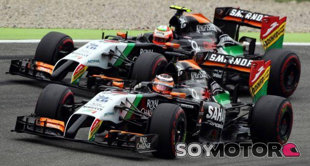Sergio Pérez y Nico Hülkenberg en el Gran Premio de Alemania - LaF1