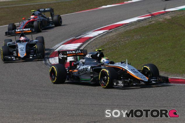 Los Force India en Shanghai - LaF1.es