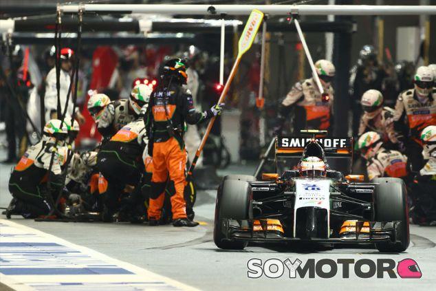 Sergio Pérez en Singapur - LaF1