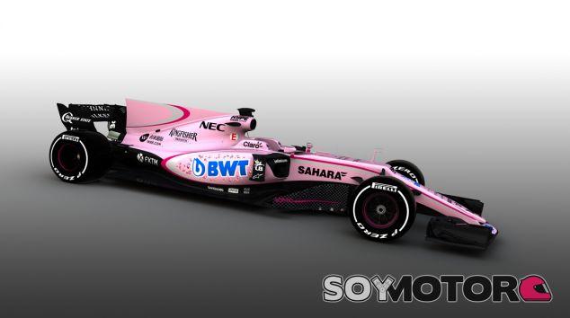 Force India colorea su nuevo VJM10 de rosa gracias al acuerdo con BWT - SoyMotor.com