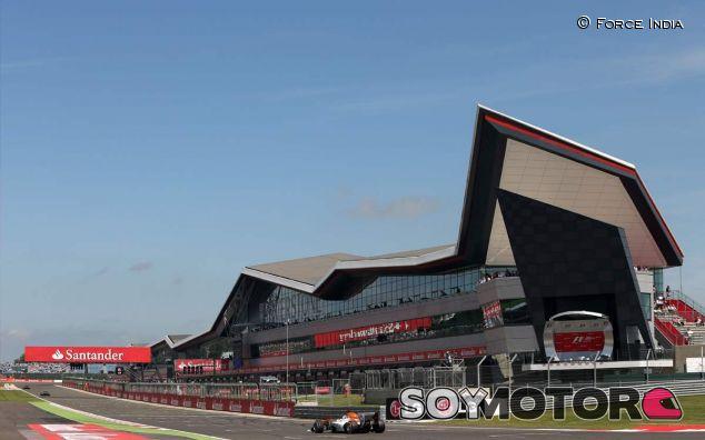 Force India en el GP de Gran Bretaña