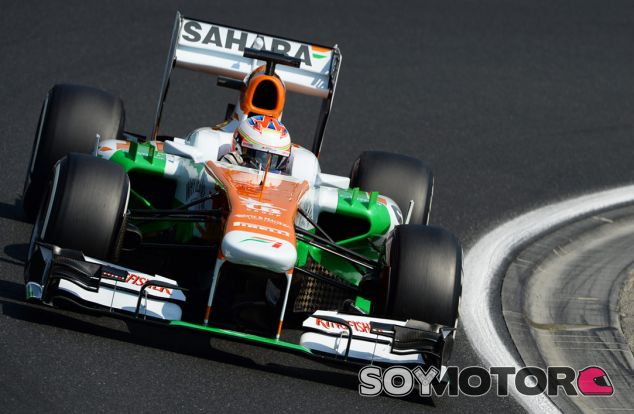 Paul di Resta en el Hungaroring