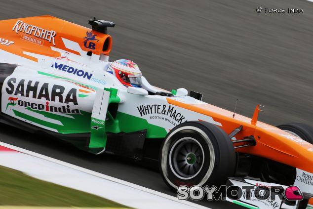 Force India en el GP de Gran Bretaña F1 2013: Viernes