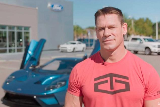 John Cena con el Ford GT - SoyMotor.com