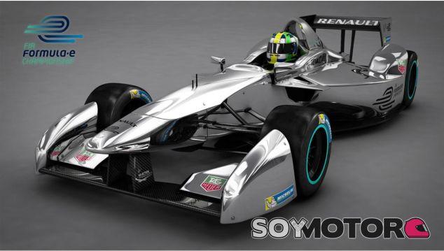 Monoplaza eléctrico de la Fórmula E