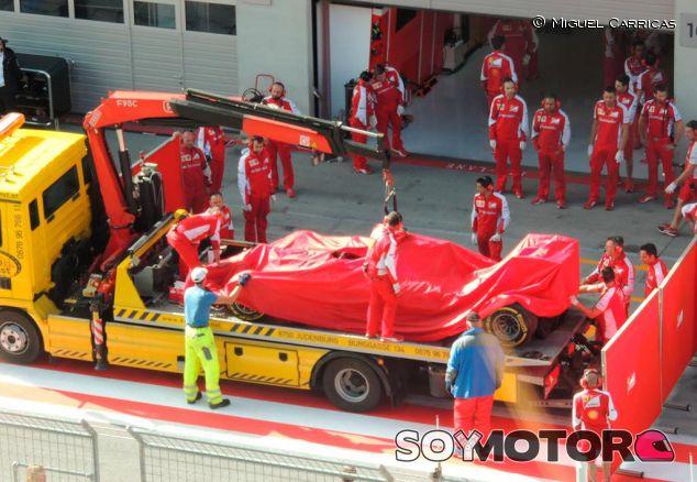 Así regresaba el Fórmula 1 de Fuoco a boxes tras el accidente - LaF1