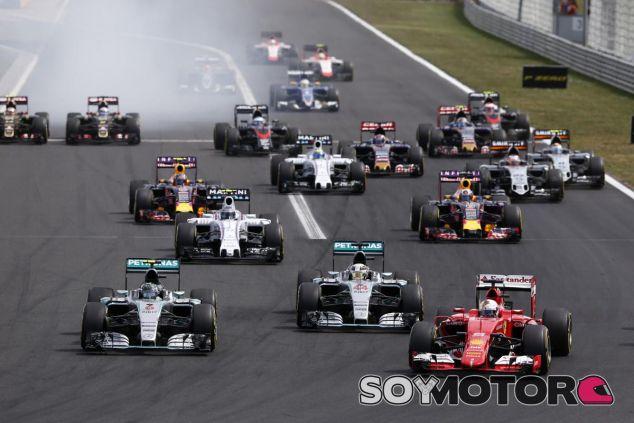 Salida del GP de Hungría 2015 - LaF1.es