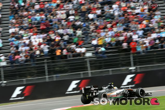 Sergio Pérez durante el GP de México de 2015 -  LaF1