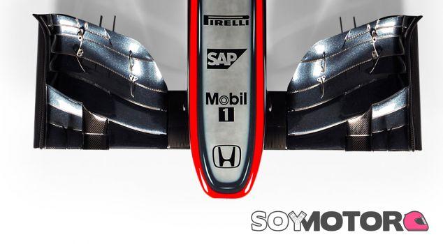 Frontal del nuevo McLaren MP4-30 - LaF1