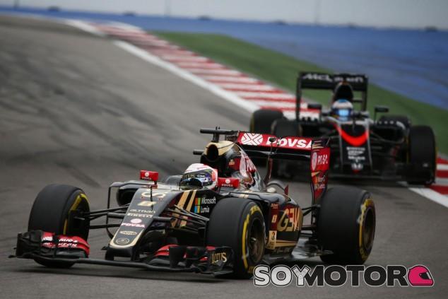 Grosjean solo pudo completar diez vueltas en Rusia antes de estrellarse - LaF1